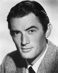 Uomo elegante Gregory Peck